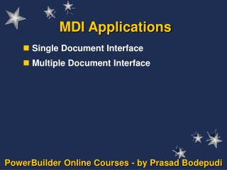 MDI Applications