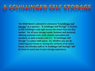 A  Schillinger  Self Storage
