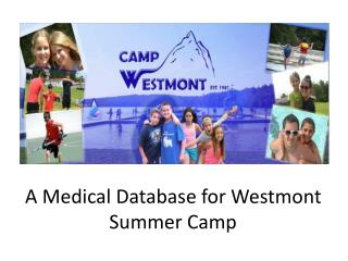 A Medical Database for Westmont Summer Camp