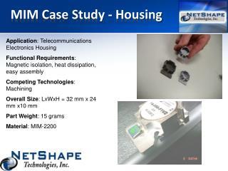 MIM Case Study - Housing