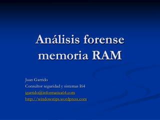 An lisis forense memoria RAM