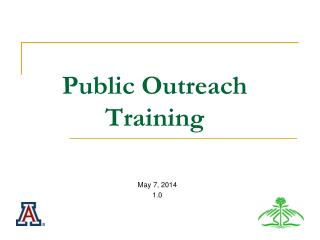 Public Outreach Training