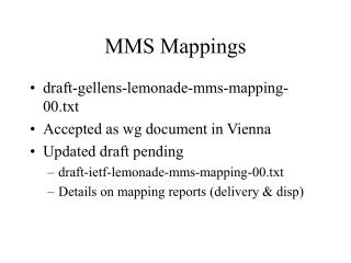MMS Mappings