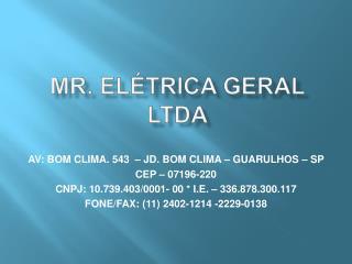Mr. el trica geral ltda