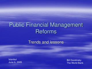 Public Financial Management Reforms