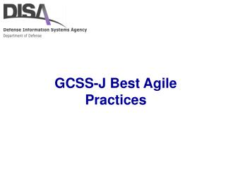 GCSS-J Best Agile Practices