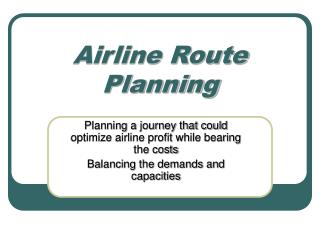 Airline Route Planning