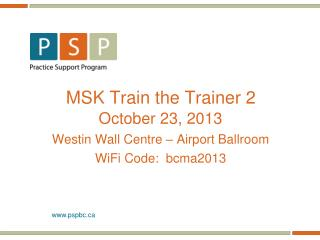 MSK Train the Trainer 2