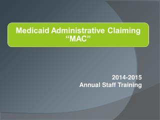 2014-2015 Annual Staff Training