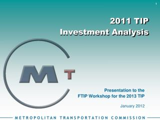 2011 TIP  Investment Analysis