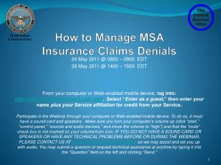 How to Manage MSA  Insurance Claims Denials