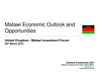 Malawi Economic Outlook and Opportunities