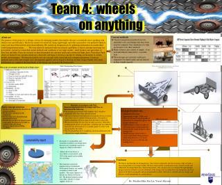 Team 4:  wheels              on anything