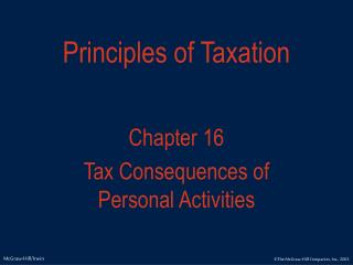 Principles of Taxation