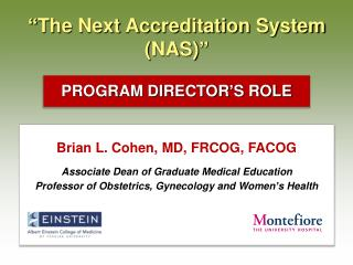 """ The Next Accreditation System (NAS) """
