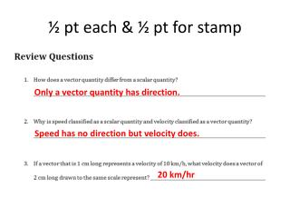 ½  pt each & ½  pt  for stamp