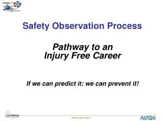Safety Observation Process