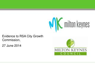 Evidence to RSA City Growth Commission, 27 June 2014