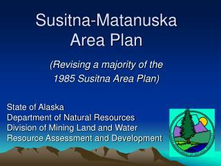 Susitna-Matanuska Area Plan