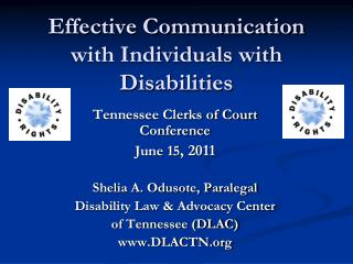Effective Communication with Individuals with Disabilities