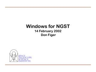 Windows for NGST 14 February 2002  Don Figer