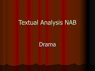 Textual Analysis NAB