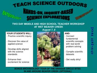 TEACH SCIENCE OUTDOORS