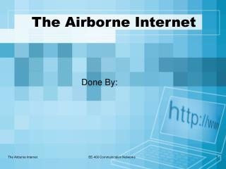 The Airborne Internet