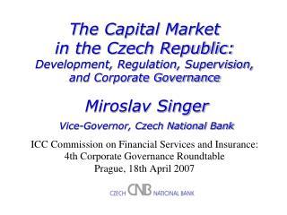 M. Singer: Capital Market in the Czech Republic 1