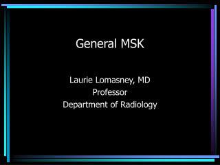 General MSK