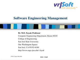Software Engineering Management