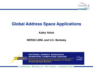 Global Address Space Applications