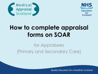 How to complete appraisal forms on SOAR