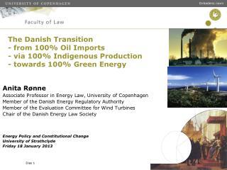 Anita Rønne Associate Professor in Energy Law, University of Copenhagen