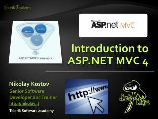 Introduction  to ASP.NET  MVC 4
