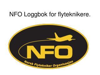 NFO Loggbok for flyteknikere.