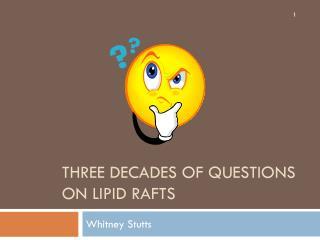 Three decades of Questions on Lipid Rafts