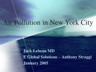 Air Pollution in New York City