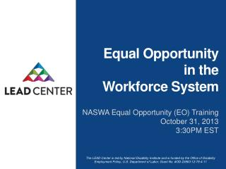 Equal  Opportunity  in  the  Workforce System