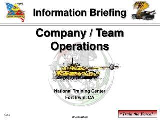 Company / Team Operations