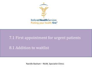 8 .1 Addition to waitlist