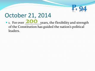 October 21, 2014