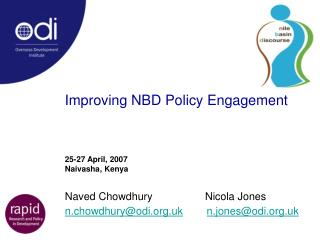 Improving NBD Policy Engagement