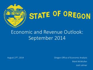 Economic and Revenue Outlook: September 2014