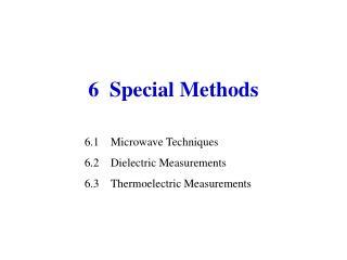 6  Special Methods
