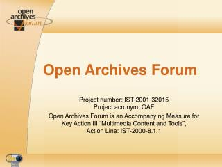 Open Archives Forum