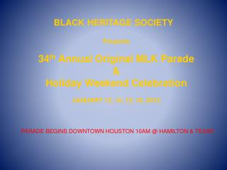 BLACK HERITAGE SOCIETY
