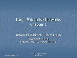 Large Enterprise Networks  Chapter 1