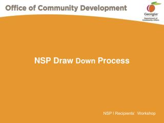NSP Draw  Down  Process