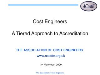 THE ASSOCIATION OF COST ENGINEERS
